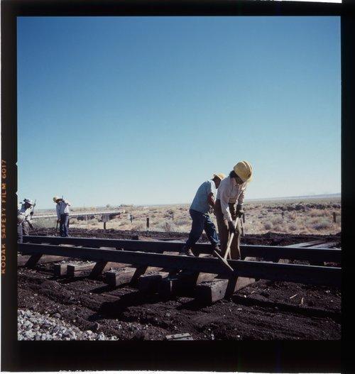 Atchison, Topeka & Santa Fe Railway Company's track crew, Arizona - Page
