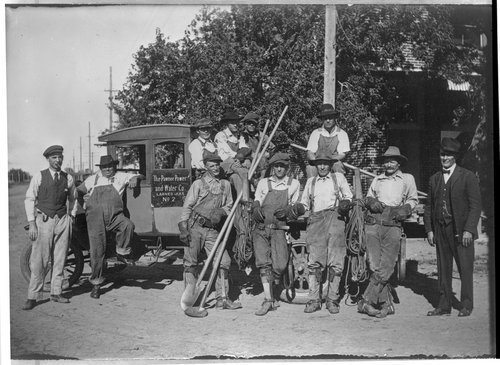 Pawnee Power and Water Company crew, Larned, Kansas - Page