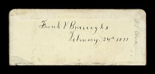 Frank Volney Burroughs journal - Page