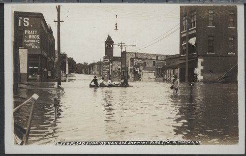 Flood scenes in Topeka, Kansas - Page