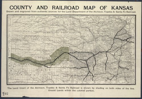 County and railroad map of Kansas - Page