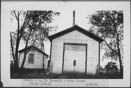 Atchison, Topeka & Santa Fe Railway Company pump house, Viola, Kansas - Page