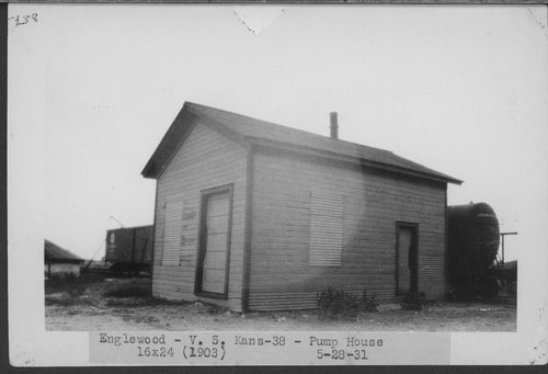 Atchison, Topeka & Santa Fe Railway Company pump house, Englewood, Kansas - Page