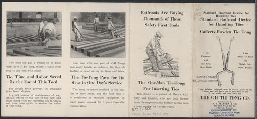 Standard railroad device for handling ties - Page