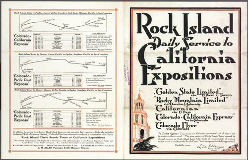 Rock Island to California expositions - Page