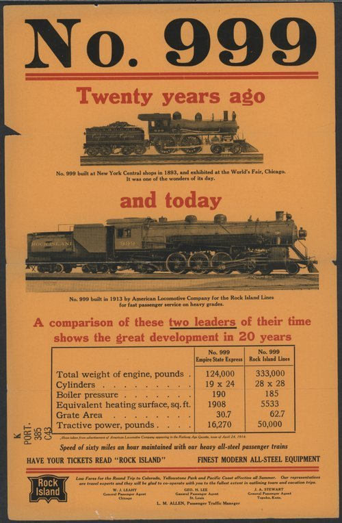 Locomotive No. 999 -- Twenty Years Ago and Today - Page