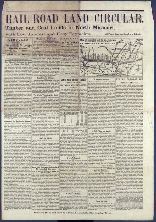 Hannibal and St. Joseph Rail Road Land Circular - Page
