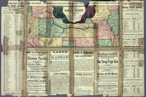 To Kansas & Colorado : Kansas Pacific railway, the great through route! - Page