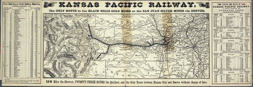Kansas Pacific Railway : the only route to the Black Hills gold mines or the San Juan silver mines via Denver - Page