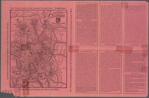 Union Pacific Rail Road Company tourist's folder - Page