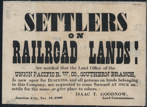 Settlers on railroad lands! - Page