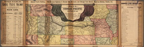 To the east & south : Kansas Pacific Railway, the great through route, Denver, Central, Boulder, Greeley, Evans, Cheyenne, Las Animas, Pueblo, &c, &c. - Page