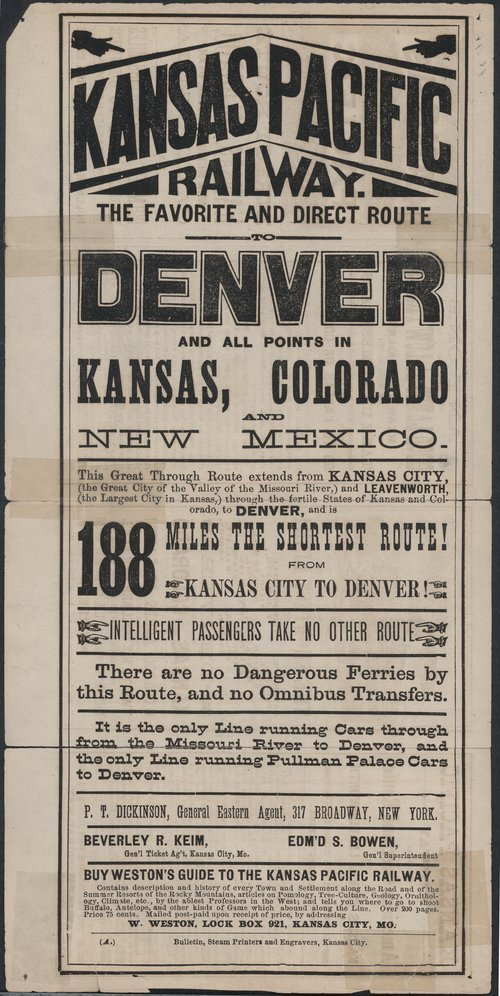Kansas Pacific Railway : the direct route to all points in Kansas, Colorado, New Mexico . . . - Page