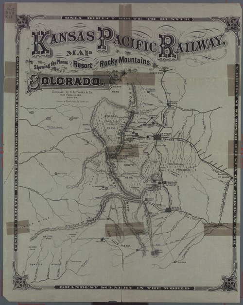 Kansas Pacific Railway, only direct line to the Colorado health and pleasure resorts - Page
