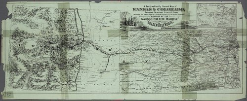 Free! Take a correct county map of Kansas Pacific Railway, Kansas and Colorado - Page