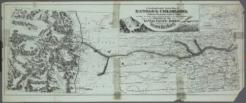 Free! Take the excellent Kansas Pacific new map of Colorado and Kansas : read new time tables, by which you save many hours' time . . . - Page