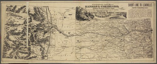 A Kansas Pacific Railway map of Kansas and Colorado - Page