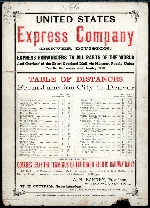 United States Express Company, Denver Division - Page