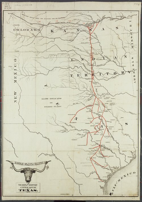 Guide to the Kansas Pacific Railway --The best and shortest cattle route from Texas, 1872 - Page