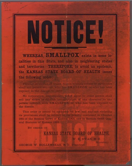 Notice!  Whereas smallpox exists - Page