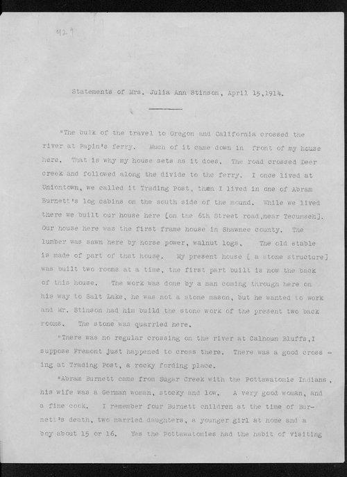 Julia Ann Stinson correspondence - Page
