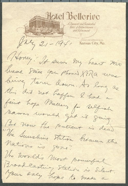 John R. Brinkley to Minnie Brinkley - Page