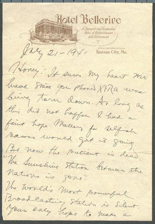 John R. Brinkley to Minnie Brinkley - Page