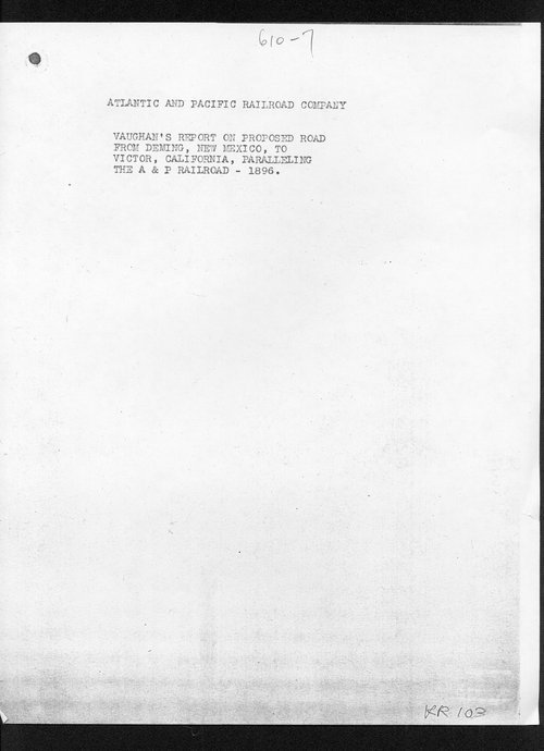 Vaughan's report on proposed road from Deming, New Mexico, to Victor, California - Page
