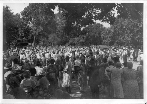 John R. Brinkley Political Rally in  Wichita, Kansas - Page