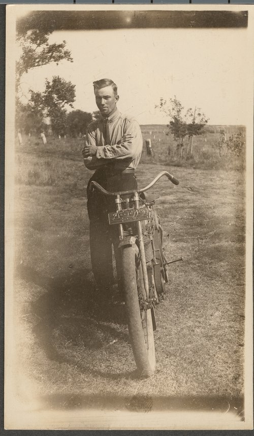 Ralph Prickett with a motorcycle - Page