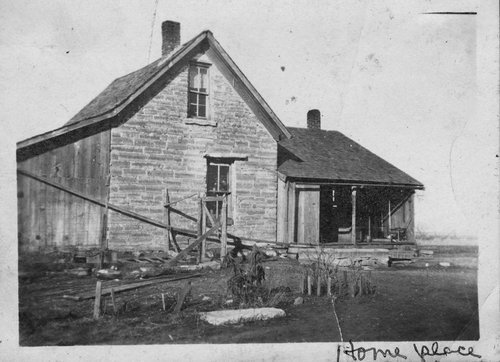John Russell and Flora Rathbun's farmhouse in Mitchell, Kansas - Page