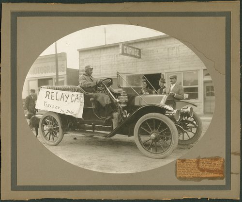 Relay car in Kinsley, Kansas - Page