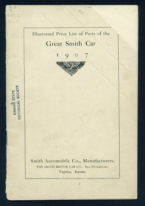 Illustrated price list of parts of the Great Smith car. Smith Automobile Company, Topeka, Kansas - Page