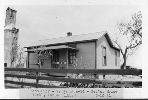 Atchison, Topeka & Santa Fe Railway Company section house, Ness City, Kansas - Page