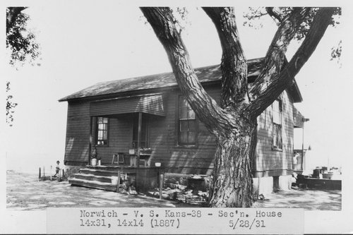 Atchison, Topeka & Santa Fe Railway Company section house, Norwich, Kansas - Page