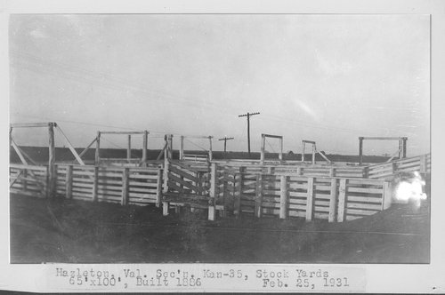 Atchison, Topeka & Santa Fe Railway Company stock yards, Hazleton, Kansas - Page