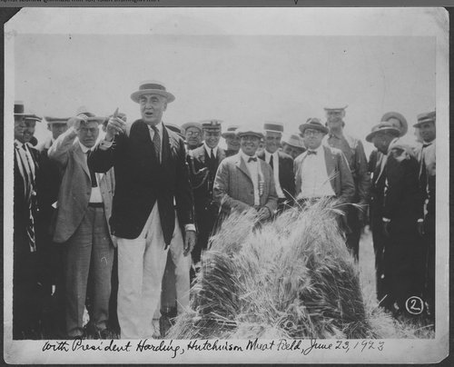 Warren G. Harding, Hutchinson, Kansas - Page