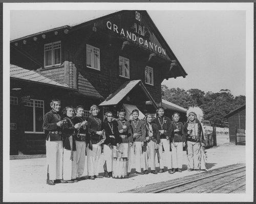 Atchison, Topeka & Santa Fe Railway Company's Grand Canyon Station, Arizona - Page