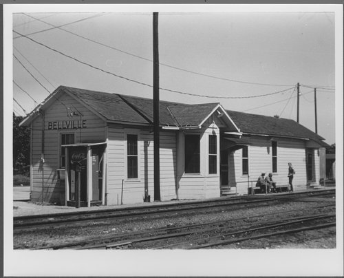 Atchison, Topeka and Santa Fe Railway Company depot, Bellville, Texas - Page