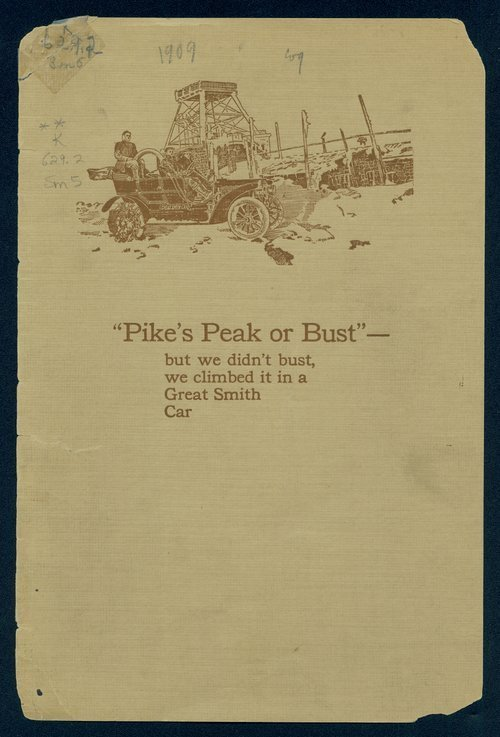 Pike's Peak or bust - but we didn't bust, we climbed it in a Great Smith car - Page