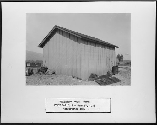 Atchison, Topeka & Santa Fe Railway Company tool house, Verdemont, California - Page