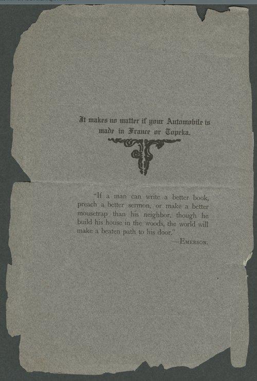 Veracity automobiles. Smith Automobile Company, Topeka, Kansas - Page