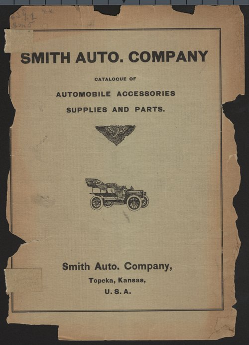 Smith Auto Company catalogue of automobile accessories, supplies and parts - Page