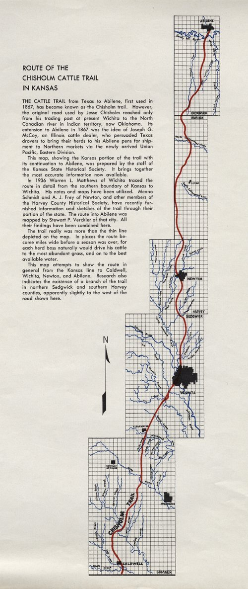 Route of the Chisholm cattle trail in Kansas - Page