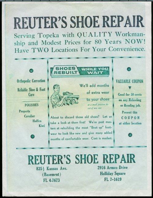 Reuter's shoe repair - Page