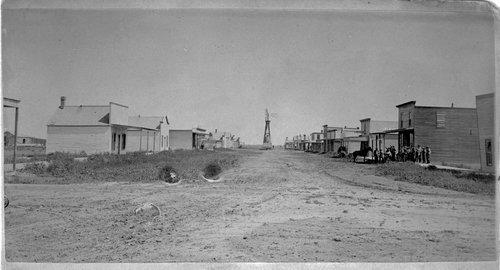 Main business street in Hugoton, Kansas - Page