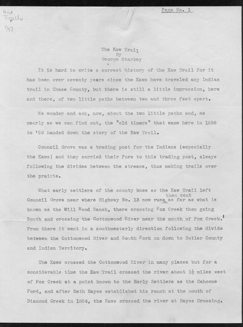 The Kaw trail - Page