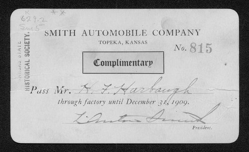 Smith Automobile Company pass - Page