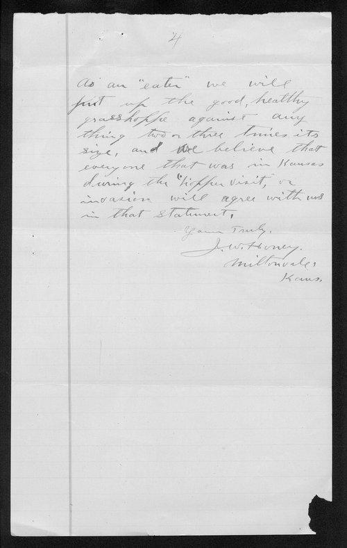 J.W. Honey to George W. Martin - Page