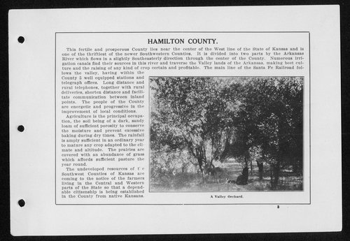Souvenir, Hamilton County and Syracuse, Kansas - Page